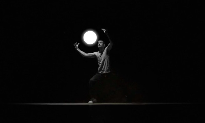 See light and form submit to the power of dance