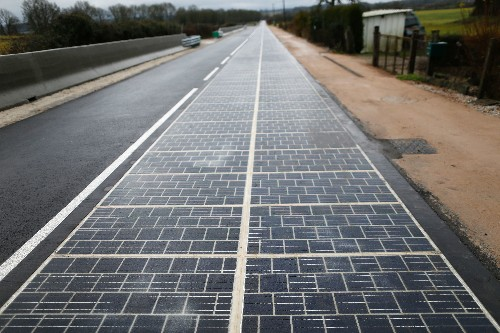 World's first 'solar panel road' opens in France