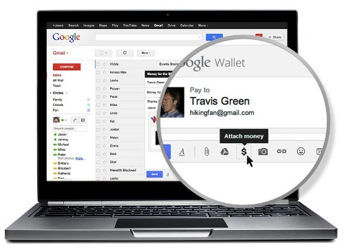 Google Wallet now lets you send money as an attachment in Gmail