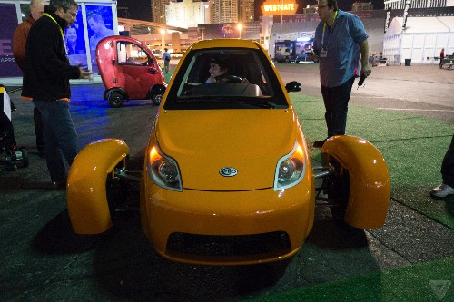 The weirdest car at CES doesn't even have four wheels
