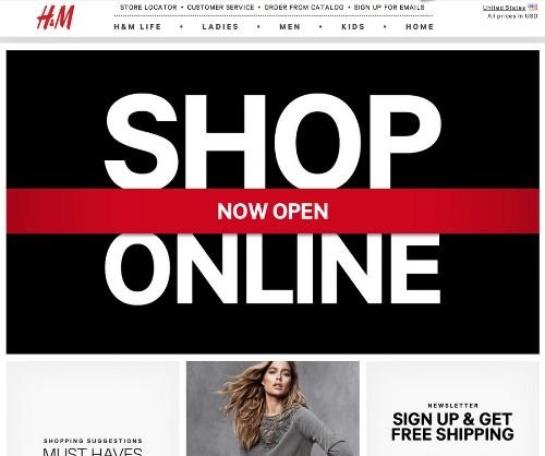 H&M finally opens US web store