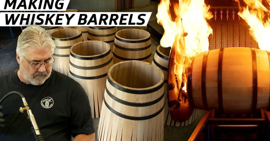 How Fire-Charred Whiskey Barrels are Made