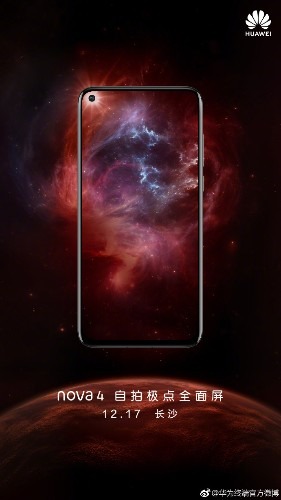 Huawei's Nova 4 with hole-punch display set to launch this month