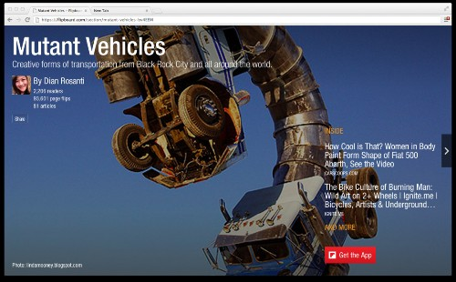 Flipboard in your web browser starts today with online magazines