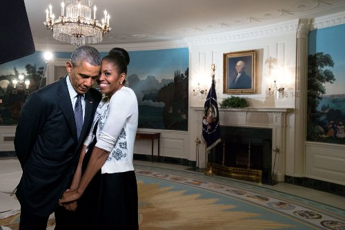 Try to resist photos of President Obama designed to melt your cold heart