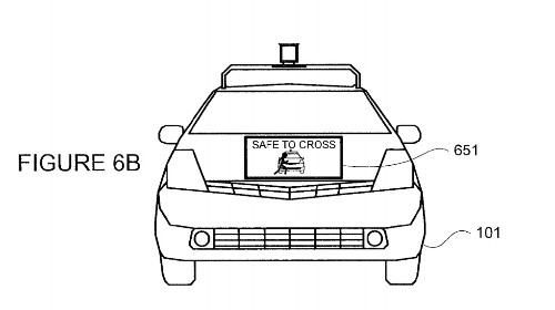 A new patent reveals how Google's self driving cars could talk to pedestrians