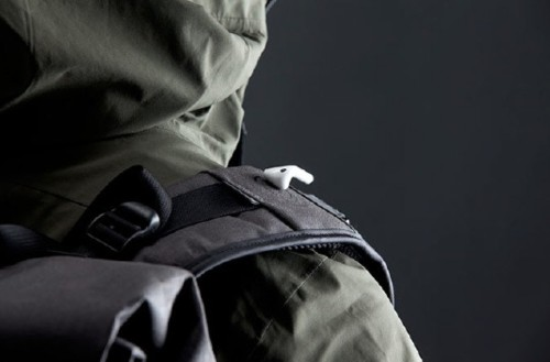 The backpack of the future has magnetic straps to catch your AirPods