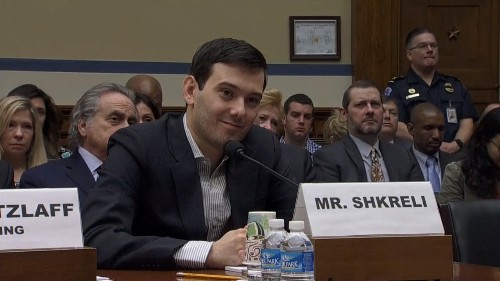 Martin Shkreli smirks at Congress and refuses to answer questions at drug price hearing