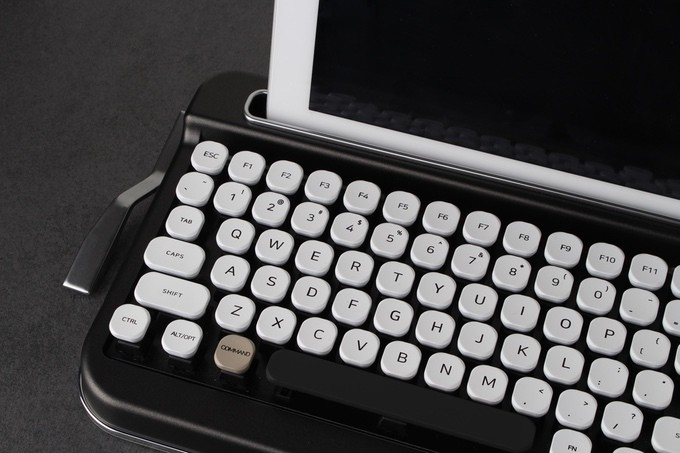 This retro typewriter-style keyboard looks great