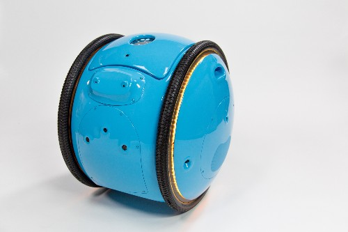 The makers of Vespa designed a cute robot to carry your stuff