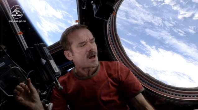 Ground control to Commander Hadfield: astronaut records first music video from space