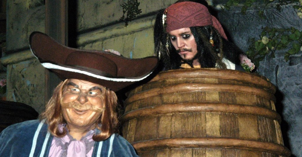What the Pirates of the Caribbean ride became after the movies