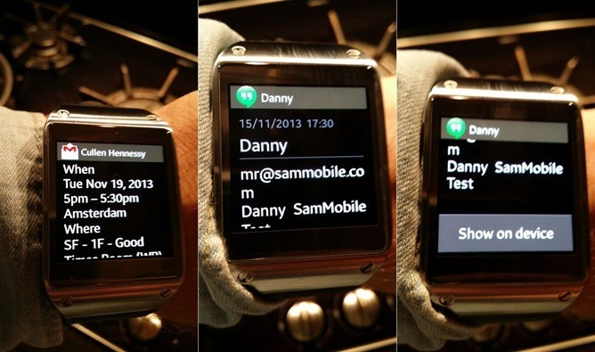 Samsung's Galaxy Gear smartwatch can now display full notifications for all your apps