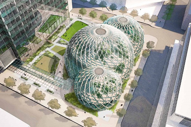 Amazon planning giant greenhouse offices for its new Seattle campus