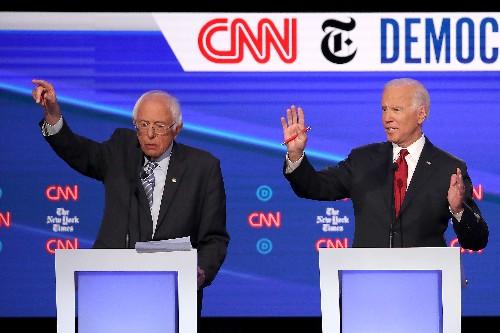 A new poll shows Bernie Sanders and Joe Biden in a virtual tie