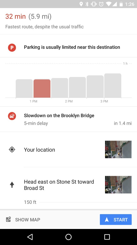 Google Maps now can tell you the best time of day to travel to your destination