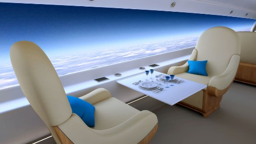 Supersonic private jet to use giant displays instead of windows