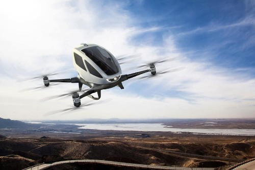 Ehang's autonomous helicopter promises to fly you anywhere, no pilot required
