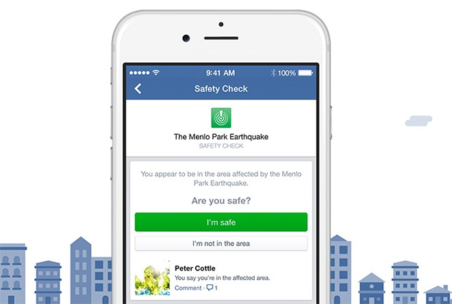 Facebook Safety Check tells friends you're okay during natural disasters