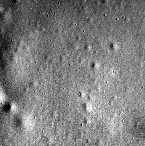 This is the last image sent by NASA's Messenger before it crashed into Mercury