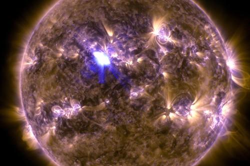 Last night, NASA saw the year's biggest solar flare