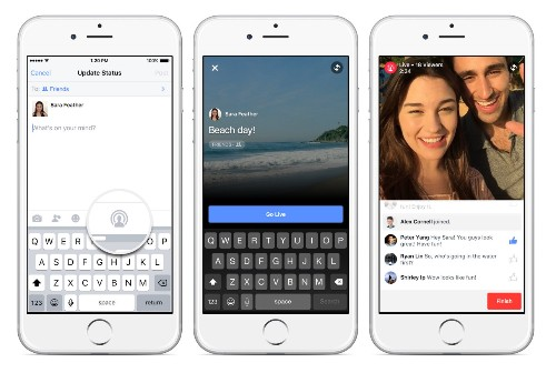 Facebook begins testing live video streaming for all users