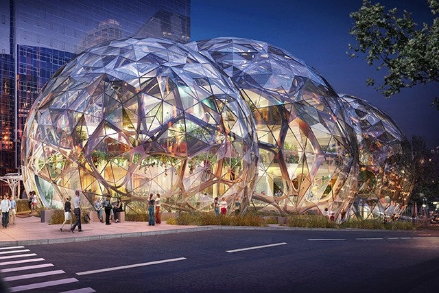 Amazon's giant biodome approved for the streets of Seattle