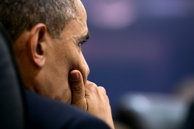 Obama unwinds from leading the nation by watching Walter White make meth