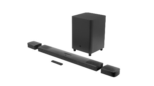 JBL's first Dolby Atmos soundbar includes battery-powered rear wireless speakers