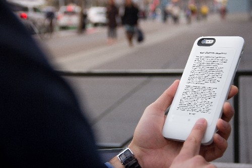 The Popslate 2 comes with a bigger E ink display and will charge your iPhone