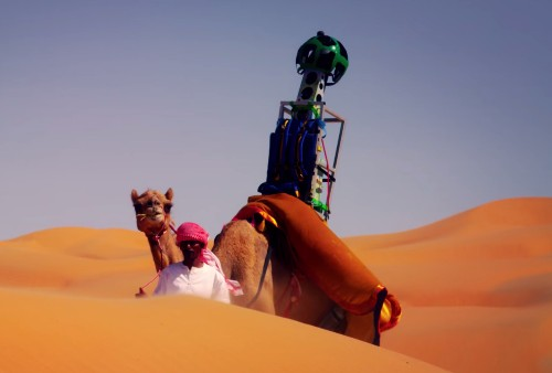Google put its Street View camera on a camel's back to tour the Arabian desert