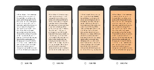 Google Play Books adds a nighttime reading mode that's easier on your eyes
