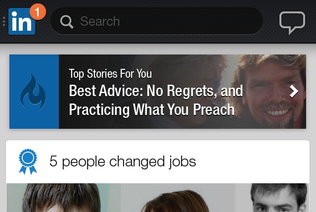 LinkedIn releases redesigned iPhone and Android app with big, bright news stories