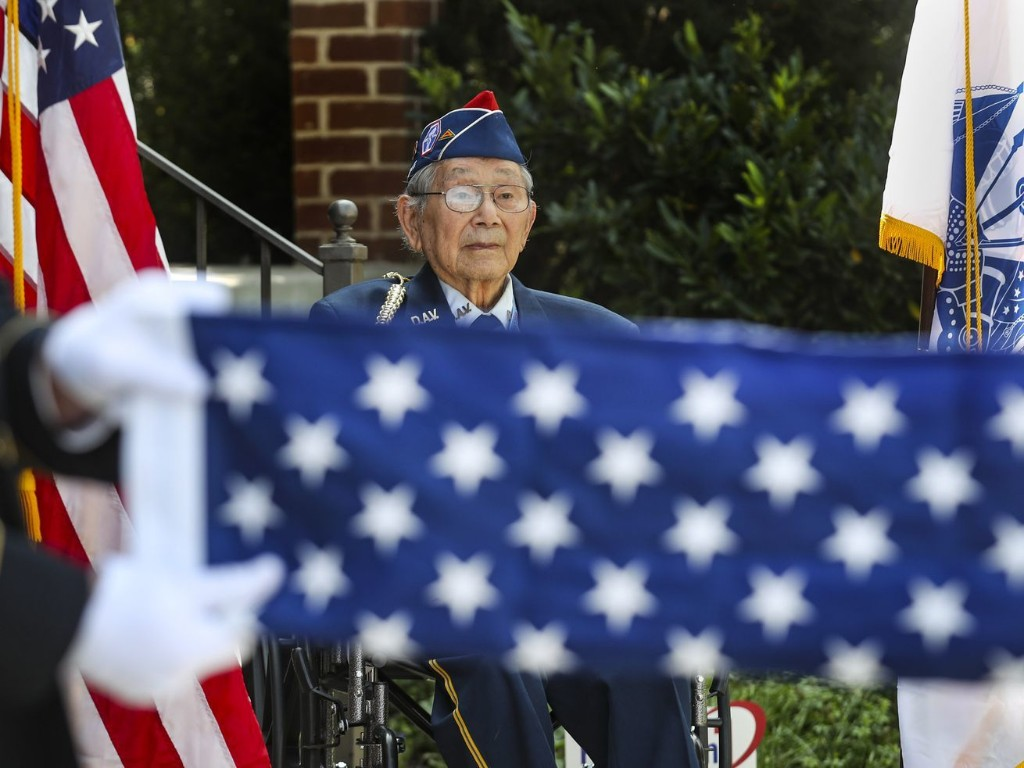 Japanese-American who served in Army during World War II receives Honor Salute