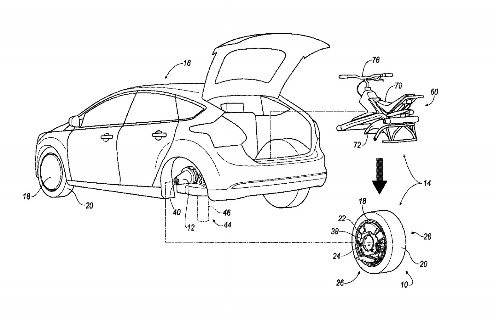 Ford files patent for rear tire that converts into an electric unicycle