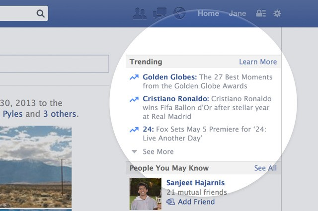 Facebook tracks hot topics with Twitter-esque Trending area of the News Feed