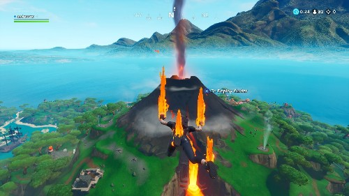 Fortnite's volcano is starting to erupt