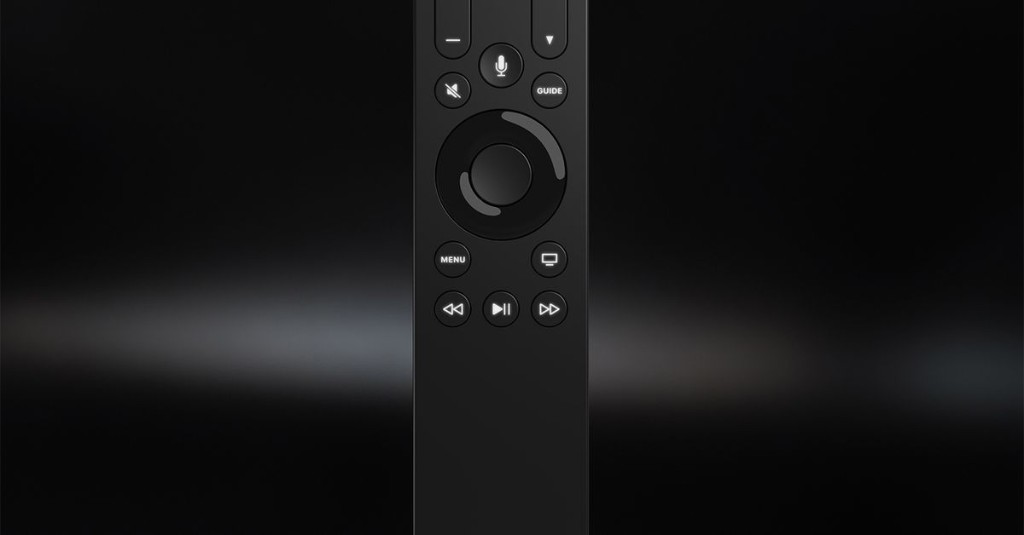 The Apple TV remote has yet another alternate option that includes buttons
