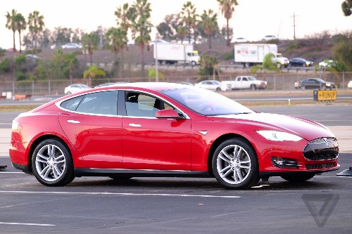 This is Tesla's D: an all-wheel-drive Model S with 'autopilot'