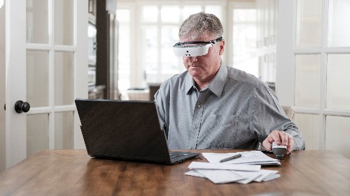 The eSight 3 is an augmented reality headset designed to help the legally blind see