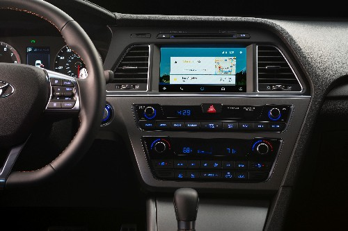 The first production car with Android Auto is a Hyundai