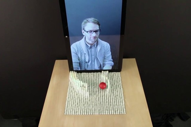 MIT's shapeshifting display lets you reach out and touch someone