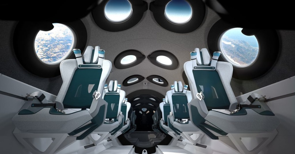 Virgin Galactic unveils the interior cabin of its tourist spaceplane