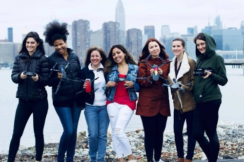 This online community expands visibility for female drone pilots