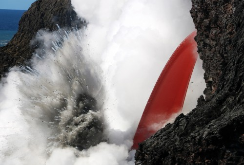 The Hawaiian volcano that created a spectacular fire hose of lava just collapsed
