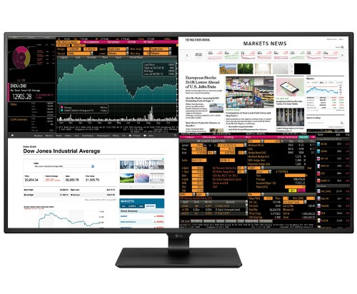 LG's new 42.5-inch monitor can display four inputs at once