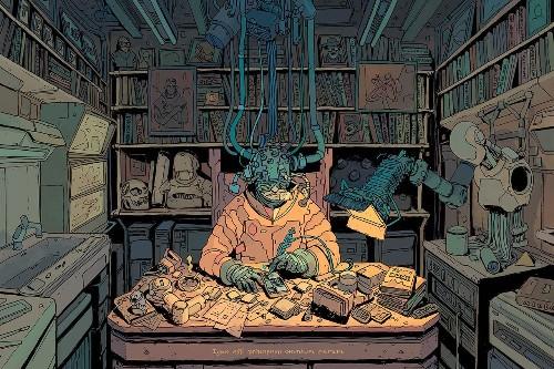 The bleak and charming cyberpunk art of Josan Gonzalez