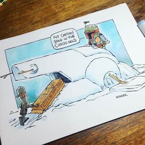 Star Wars and Calvin & Hobbes is the perfect combination in these fantastic cartoons