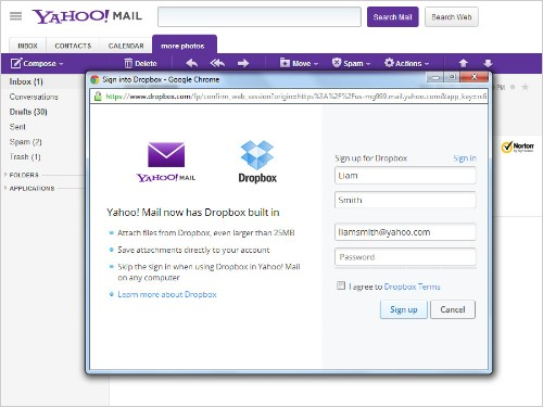 Yahoo Mail adds Dropbox attachment support, deepens cloud integration