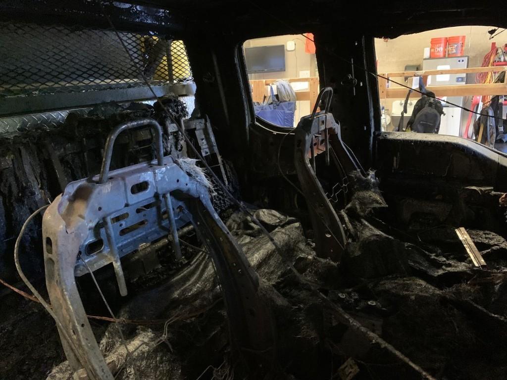 Zion National Park firetruck burns up in garage